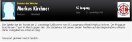 Spieler der Runde - Markus Kirchner