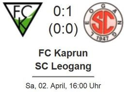 FC Kaprun - SC Leogang 0 : 1 (0 : 0)