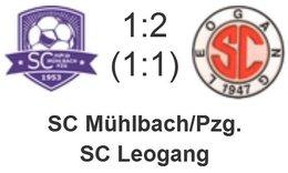 SC Mühlbach/Pzg. - SC Leogang 1 : 2 (1 : 1)