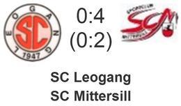 SC Leogang - SC Mittersill 0 : 4 (0 : 2)
