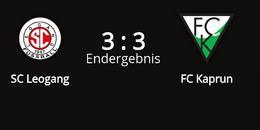SC Leogang - FC Kaprun 3 : 3 (1 : 1)