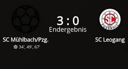 SC Mühlbach/Pzg. - SC Leogang 3 : 0 (1 : 0)