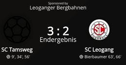 SC Tamsweg - SC Leogang 3 : 2 (2 : 0)