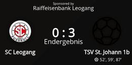 SC Leogang - TSV St. Johann/Pg. 1b 0 : 3 (0 : 0)