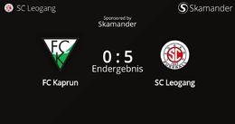 FC Kaprun - SC Leogang 0 : 5 (0 : 4)