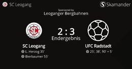 SC Leogang - UFC Radstadt 2 : 3 (1 : 2)